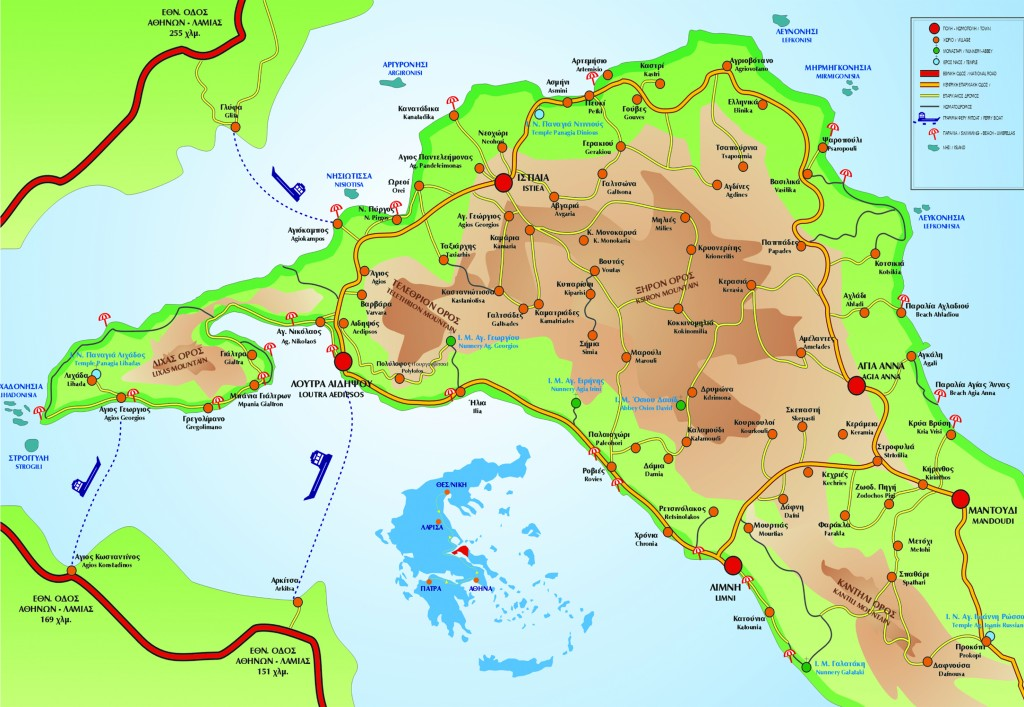 Map North Evia