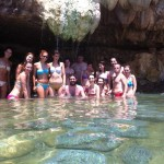 Yoga Team in Thermal Waters